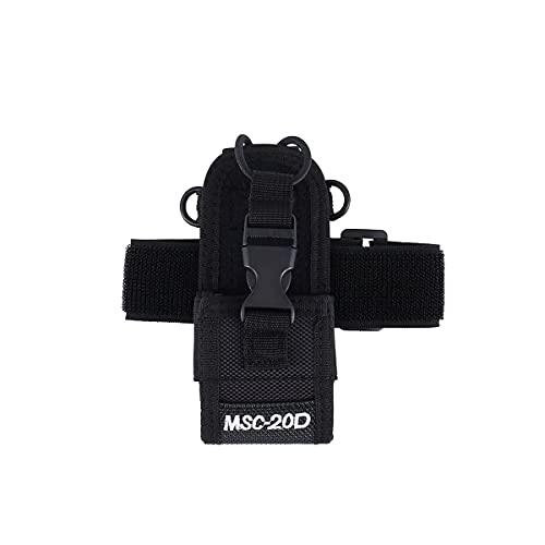 Greatangle-UK Bolsa de Brazo aplicable a Baofeng Uv-5r 888s 5rb Midland Lxt500 Gxt1000 Yeasu Vx-7r Kenwood Tk3107 3207 Walkie-Talkie Negro