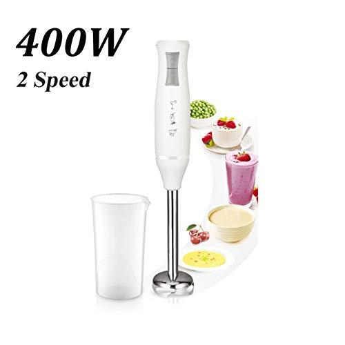 CCHM 400W 2 Geschwindigkeiten Elektrische Lebensmittel Mixer Mixer Küche Abnehmbare Hand Blender Egg Beater Gemüsestand Mischung,Weiß