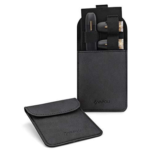 E-Zigaretten Etui für Juul MyBlu Vype Tasche für POD Systeme Hülle Bag Schutz vor Staub & Schmutz (Schwarz)