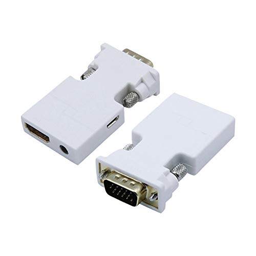 Hihey HDMI naar VGA adapter met 3,5 mm audio kabel Draagbare HDMI poort voor PC Laptop PC DVD TV