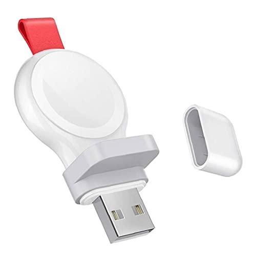 FeelMeet Reloj iWatch Cargador USB Cargador inalámbrico portátil inalámbrico de Carga rápida Inteligente Compatible con Apple Blanco del Reloj