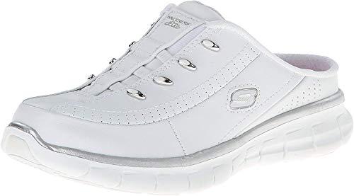 Skechers Sport Women's Elite Glam Fashion Sneaker,White/Silver,8.5 M US