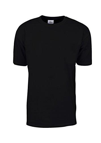 6 NEW SHAKA WEAR SUPER MAX HEAVY WEIGHT T-SHIRTS BLACK TEE PLAIN 7XL