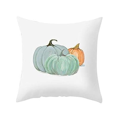 Halloween Throw Pillow Covers Pumpkin Pillowcases Cotton Linen Retro Halloween Decorative Pillow Cover Sofa Waist Throw Cushion Cover