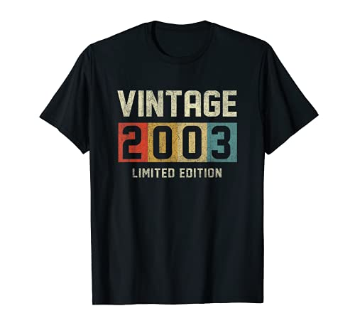 Vintage 2003 Limited Edition Gift 18th Birthday 18 Yrs Old T-Shirt