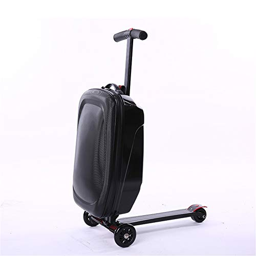 Luckwq 20 inch Bagage opvouwbare scooter koffer, multifunctionele koffer Scooter-Suitcase Ride-on Travel Trolley Bagage, draagbare opvouwbare Scooter koffer Travel Bag