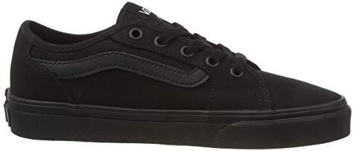 Vans Filmore Decon, Sneaker, Negro ((Canvas) Black/Black 186), 35 EU