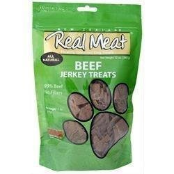 Real Meat Beef Jerky Dog Treats 12 oz by RealMeat-Canz (English Manual)