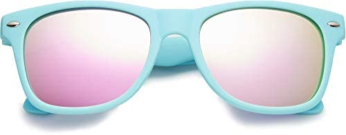 Kids Polarized Retro Sunglasses for Boys Girls Age 3 12 Shatterproof Rubberized Frame UV Protection product image