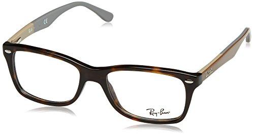 Ray-Ban 0Rx5228 Monturas de Gafas, Sand Grey, 55 para Mujer