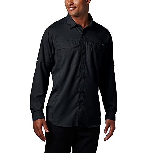 Columbia Long Sleeve Shirt Silver Ridge Lite Chemise à Manches Longues Homme, Noir, 3X