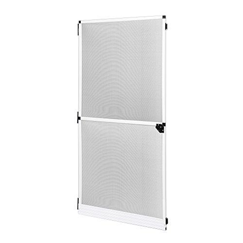 JAROLIFT Profi Line - Puerta mosquitera con marco giratorio, Protección contra insectos, 120 x 220 cm, color blanco
