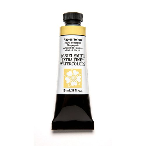 DANIEL SMITH 284600058 Extra Fine Watercolor 15ml Paint Tube, Naples Yellow