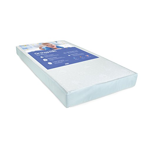 Big Oshi Foam Crib Mattress - Fits Full Size Baby Cribs and Toddler Beds - 5' Thick - Includes Waterproof Cover for Easy Cleaning - Safe, Non-Toxic Material - for Boys and Girls - White, 52'x27.5""