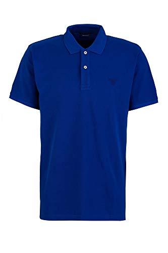 GANT Herren Poloshirt The Summer Pique Kurzarm blau (51) XL