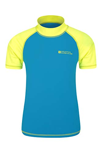 Mountain Warehouse Camiseta térmica de Manga Corta para niños - Camiseta térmica con protección Solar UPF50+, Camiseta térmica con Costuras Planas para niños Amarillo Brillante 13 Años