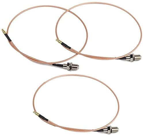 Piezas de repuesto para cortacésped 3 unids MCX Macho a F Conector hembra 20 pulgadas RF Conexión coaxial Extención RG316 Adaptador para XM SIRIUS Radio satelital Antena Cable coaxial InfinitV4 6 RCA