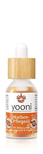 Yooni Narbenpflegeöl | Schwangerschaftsstreifen | Op-Narben | Tattoo-Narben | Mit Wildrosenöl, Johanniskrautöl & Vitamin E | 100% bio | 100% vegan | Made in Germany | 15 ml