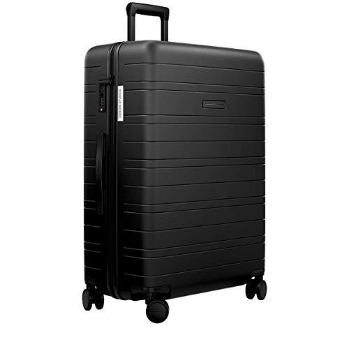 HORIZN STUDIOS H7 Essential Hartschalen-Koffer | Handgepäck-Koffer mit TSA Schloss | (All Black, L | H7 | 77 cm)