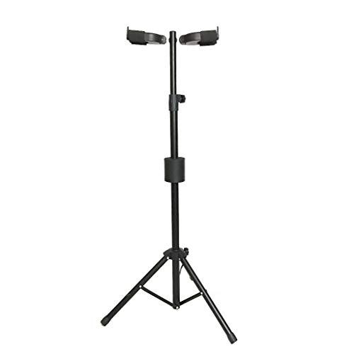 Gitaarstandaard Dubbele kop Zwaartekracht Zelfsluitende Akoestische Elektrische Gitaar Pipa Verticale Stand, Multi-voudige Vouwstandaard Voor Muziekinstrumenten