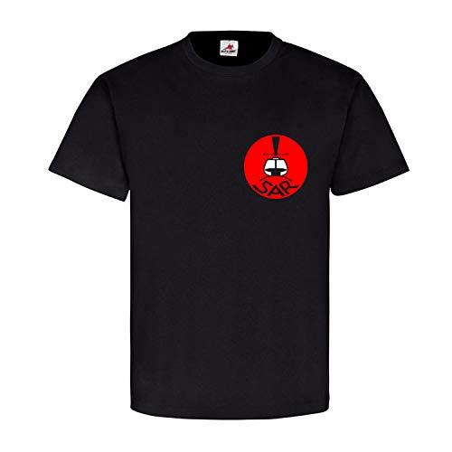 SAR Search and Rescue Logo militärischen Such- Rettungsdienstes - T Shirt #17681, Größe:3XL, Farbe:Schwarz