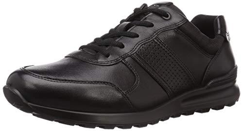 ECCO Men's CS20 Premium Trainer Sneaker, Black, 12-12.5