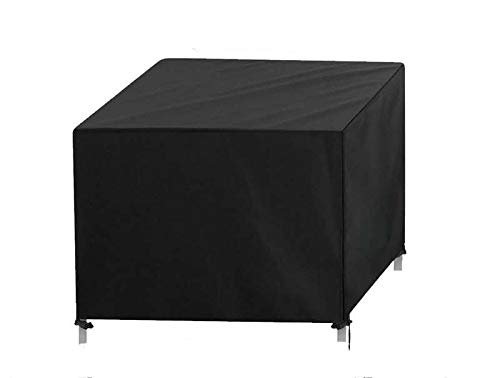 Garden Furniture Covers,Patio Furniture Cover Waterproof, Windproof, Anti-UV,420D Heavy Duty Rip Proof Oxford Fabric Patio Set Cover, for Patio Outdoor Rectangular- Black (250 * 250 * 90cm)