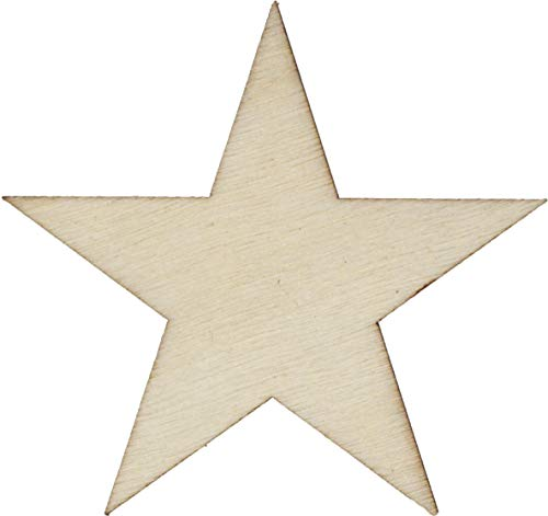 50 Small 1.5 inch Size Wood Stars 1-1/2 inch