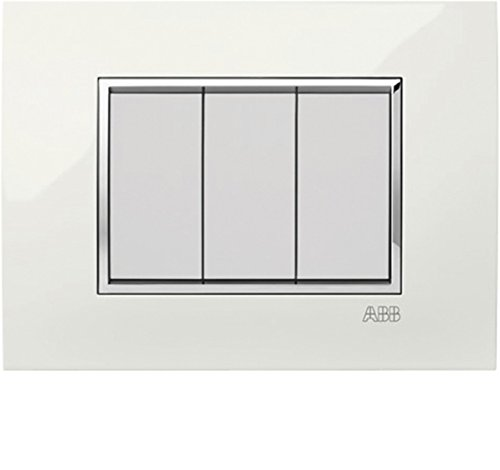 ABB PLACCA SQUARE LUCENT BIANCO ALABAS. 4+4M