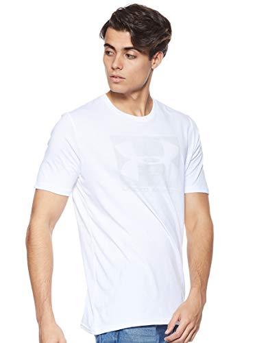 Under Armour Herren UA Boxed Sportstyle Short Sleeve atmungsaktives Sportshirt, schnelltrocknendes Funktionsshirt mit loser Passform, Weiß (White), L