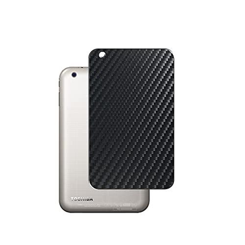 VacFun 2 Piezas Protector de pantalla Posterior, compatible con TOSHIBA dynabook Tab VT484/26K / VT484/23K / VT484/22K 8', Película de Trasera de Fibra de carbono negra Skin Piel