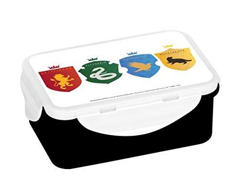 Harry Potter Brotdose, PP, schwarz, 16 x 10,5 x 6,5 cm