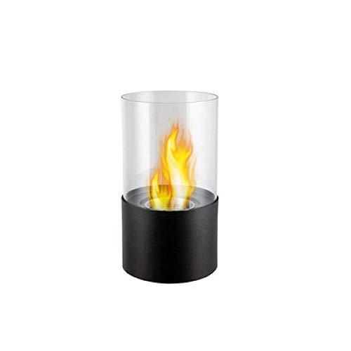 APQMR Tischfeuer Ethanol Outdoor Amerikanischer Desktop Ethanol Kamin Dekoration Rauchlos Kleine Echte Flammende Alkohol Tischplatte Kamin Ornament-Schwarz