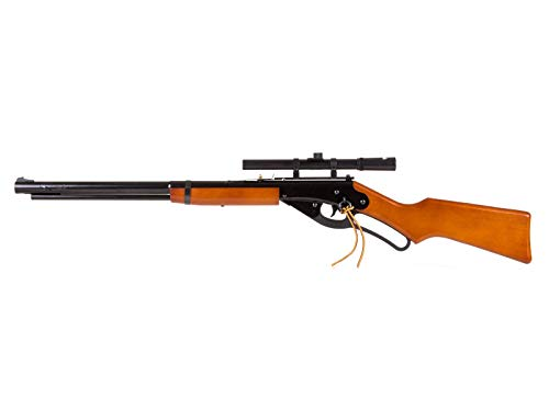 Daisy 1938 Red Ryder BB Gun Bundle 4x15 Scope and Western Justice Lasso Scope Mount