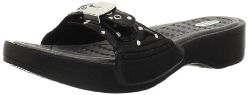 Dr. Scholl's Women's Rock Platform Sandal, Black Polka Dot, 9 M US