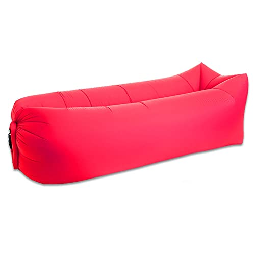 LJJ Sofa Hinchable Sofá aéreo, Tumbona Inflable ergonómica La Mejor Tumbona para la Silla de Aire Que viaja, el sofá Ideal para los Festivales de la música de la Playa de Camping (Color : Rojo)