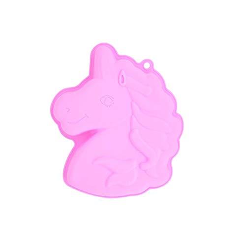 Q-Town Backform Einhorn, rosa Kuchenform,backen,Kindergeburtstag, Silikonform für Kuchen, EIS, Schokolade, Brot, Dessert, Pudding, besondere Unicorn Form BPA Frei,Einhorn,rosa
