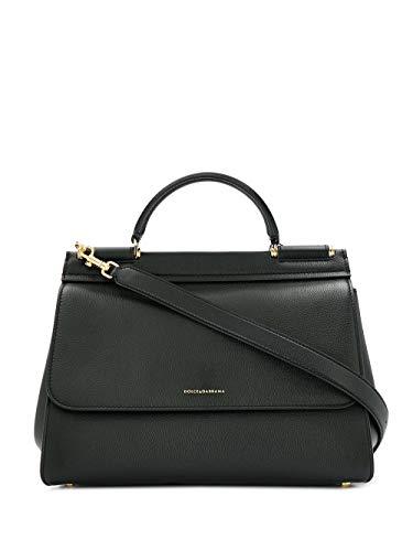 DOLCE E GABBANA Luxury Fashion Damen BB6743AA40980999 Schwarz Leder Handtaschen | Jahreszeit Permanent