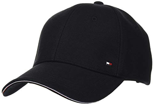 Tommy Hilfiger Herren Elevated Corporate Cap Hut, Schwarz, Einheitsgröße