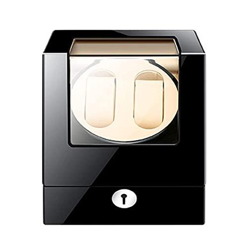 WBJLG Enrolladores de Reloj Enrollador de Reloj Doble Almohadillas de Reloj Ajustables Motores silenciosos 4 Modos Disponibles incluidos para Relojes de Hombres y Mujeres con Adaptador de CA o Bat