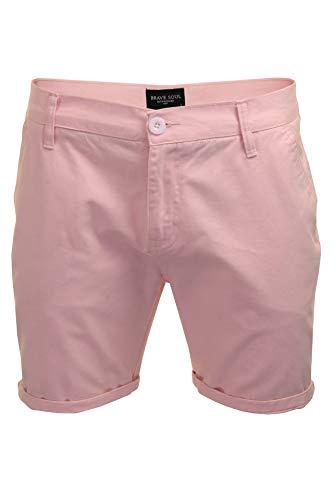 Brave Soul Herren Chino-Shorts (Rosa) M