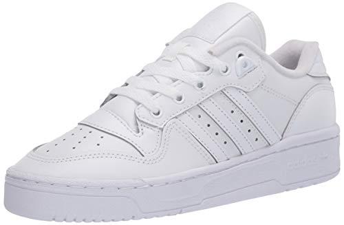 adidas Originals unisex child Rivalry Low Sneaker, Ftwr White/Ftwr White/Core Black, 3.5 Big Kid US