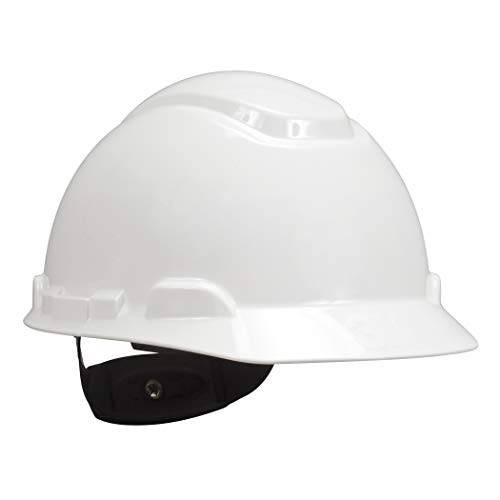 3M Hard Hat, White, Lightweight, Adjustable 4-Point Ratchet, H-701R