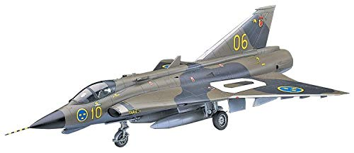 ハセガワ 1/48 スウェーデン空軍 J35F/J ドラケン プラモデル PT41