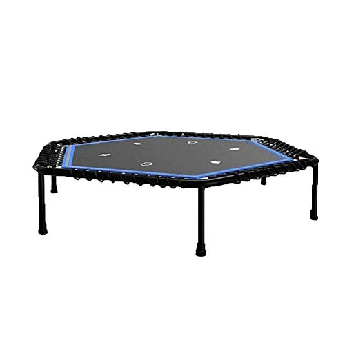 XBCDX Trampoline – mini-fitness-trampoline, cardio-trainer met veiligheidskussen, hardlopen en stalltraining rebounds, voor kinderen en volwassenen, indoor-tuintrampoline