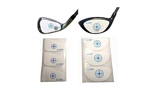 LL-Golf ® 150er Set Golf Impact Tapes/Label nach Wahl für Driver/Holz ODER Eisen/Wedge/Golfschläger Schlagfläche Impact Aufkleber/Etiketten RH (Driver/Holz)