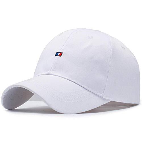 VSDFS Mujeres Hombres Gorra De Béisbol Mujer Color Sólido Exterior Ajustable Amantes Bordados Sombreros De Mujer Verano Negro Blanco Color Blanco