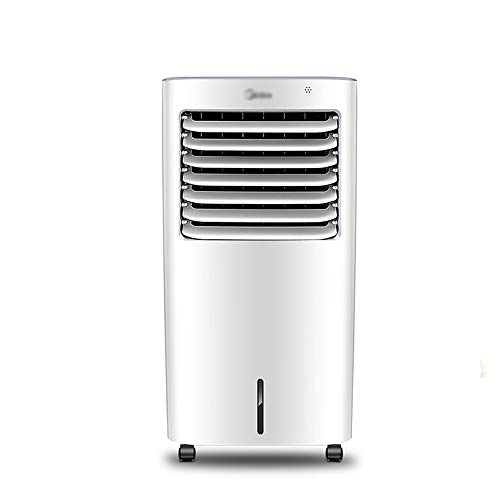 Byx Draagbare airconditioning, groothoekige luchttoevoer, waterreservoir van 10 liter, intelligente herinnering, 7 soorten wind gevoel, verticale mobiele circulatie koeling, afstandsbediening voor kleine airco