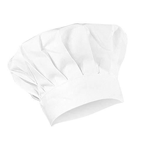 MaoDaAiMaoYi Koksmuts Chef Works Hat Kinderen Casual Chic Katoen Kookmuts Cooking Restaurant Keuken Gift Hoed Wit Met intrekbaar touw Maat S