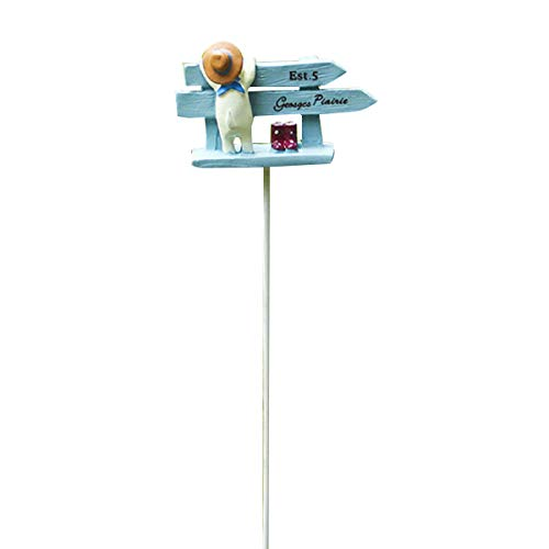 Miniatura casa de muñecas, señalización de camino, mini perro, calle, estaca, terraza, hada, jardín, ornamentos para casas al aire libre, fiesta
